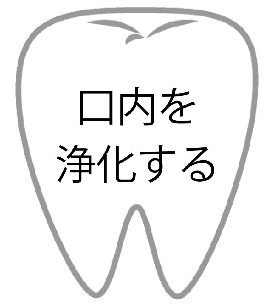 口内を浄化する